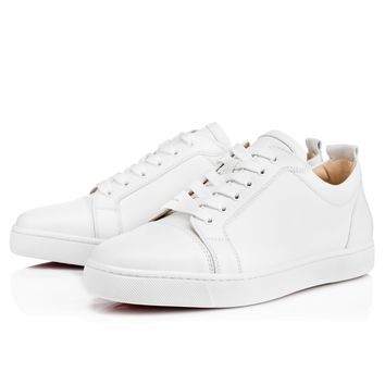 Louis Junior Men's Flat White Leather
