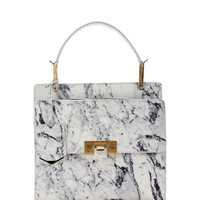 Balenciaga Le Dix Cartable Flap Satchel Bag, Marble