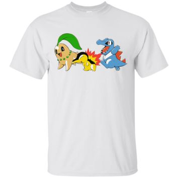 POKEMON - 20TH ANNIVERSARY JOHTO STARTERS T SHIRT