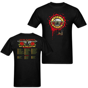 Guns N Roses Not In This Lifetime 2017 world tour T-Shirt Men