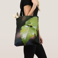 New Spring Leaves Custom Canvas Tote