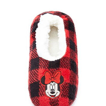 Minnie Mouse Plush Slippers