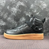 Nike Air Force 1 Utility Mid Strap Black AF1 Fashion Shoes - Best Online Sale