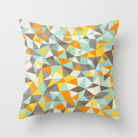 Mardi Gras Tris Throw Pillow by Beth Thompson | Society6
