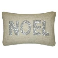"""Silver Sequin Noel Decorative Pillow 12""""x18"""" -Th... : Target"""