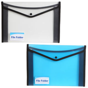 Bulk Plastic & Nylon File Folders with Snap Closure at DollarTree.com