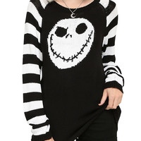 The Nightmare Before Christmas Jack Head Knit Sweater