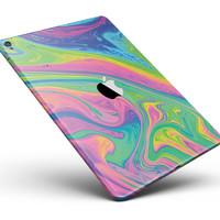"Watercolor Neon Color Fusion V3 Full Body Skin for the iPad Pro (12.9"" or 9.7"" available)"