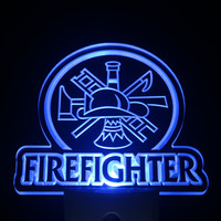 Firefighter LED Sign - 3 Colors