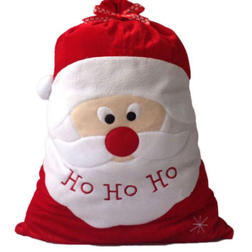 ASLT Christmas Day Decoration Santa Large Sack Stocking Big Gift bags HO HO Christmas Santa Claus Xmas Gifts Free Shipping