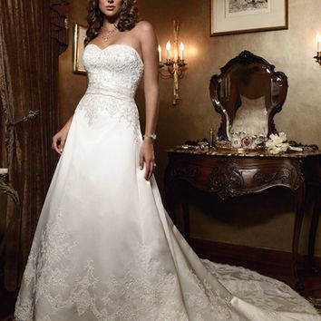 Casablanca Bridal 2029 A Line Wedding Dress