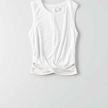 AEO Soft & Sexy Twist Muscle Tank , Natural White