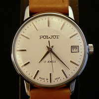 Vintage NOS  Poljot mens watch with date window