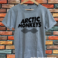 arctic monkeys shirt arctic monkeys band t-shirt sport grey printed unisex size  (DL-55)