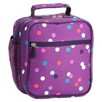 Gear-Up Light Purple Confetti Multi Dot Classic Lunch With Mesh Side Pocket