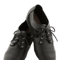 ModCloth Menswear Inspired Always on Your Side Flat in Black