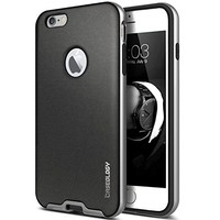 Speck Products CandyShell + FACEPLATE Case for iPhone 6/6S - Black/Slate Grey, SPK-A3058