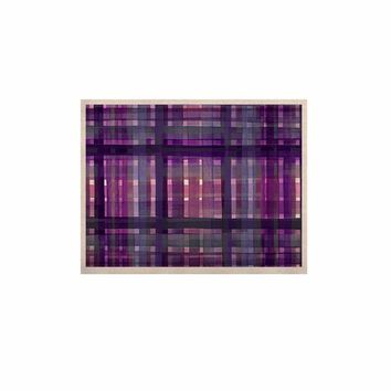 "Ebi Emporium ""PLAID FOR YOU, PURPLE MULTI"" Purple Lavender Stripes Pattern Mixed Media Painting KESS Naturals Canvas (Frame not Included)"