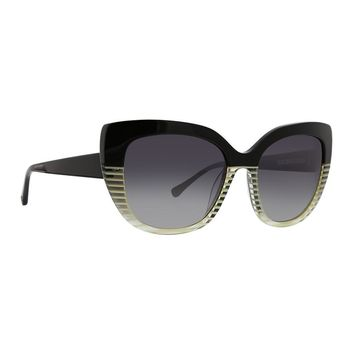 Trina Turk - Sucia 54mm Black Sunglasses / Smoke Gradient Lenses