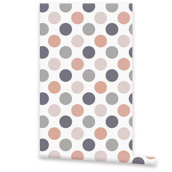 Polka Dots WALLPAPER, Self Adhesive Removable Vinyl Wallpaper, Wall Decal, Peel & Stick, Repositionable Wallpaper Geometric Pattern
