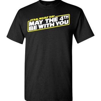 Star Wars May The 4th Be With You Tee Shirt T-Shirt Kids