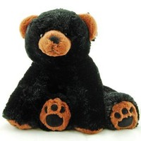 Super Soft & Floppy Stuffed Black Bear Plush Toy with Weighted Feet - Stands up 11""