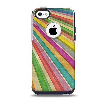 The Vintage Downward Ray of Colors Skin for the iPhone 5c OtterBox Commuter Case