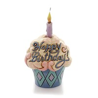 Jim Shore Birthday Cupcake Mini Figurine