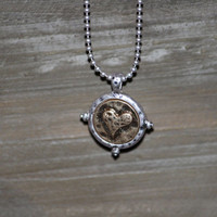 Hammered Charm Necklace