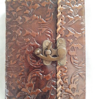 Customize Flower Design Leather Journal Notebook Diary Sketchbook