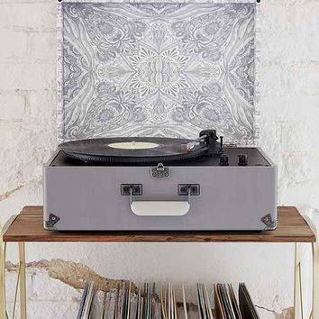 Crosley X UO AV Room Grey Mandala USB Vinyl Record Player