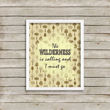 Wilderness Art Print 8 x 10 INSTANT Digital Download Printable