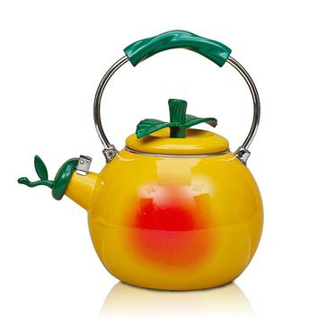 Creative High Quality 2L Enamel Watermelon Football Peach Water Kettle Teapot Cool Cooker Stove General Fruit Pot Free Shipping