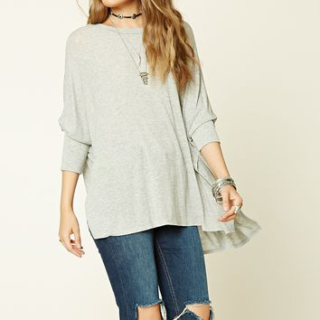 Heathered Dolman Sleeve Top