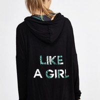 Like A Girl Hoodie in 001 Black by Strut This | Tops | BANDIER