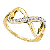 Diamond Fashion Ring in 10k Gold 0.15 ctw