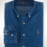 Classic-Fit Denim Sport Shirt
