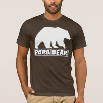Papa Bear Designer T-Shirt summer Winter Wear