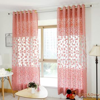 New Style Mordern Burnout sheer Curtain For Home Emdless Window Curtains