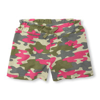 Girls Matchables Camo Knit Shortie Shorts | The Children's Place