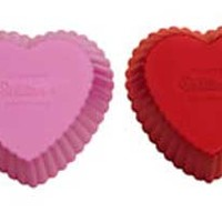 Silicone Soap Mold- Heart Cupcakes