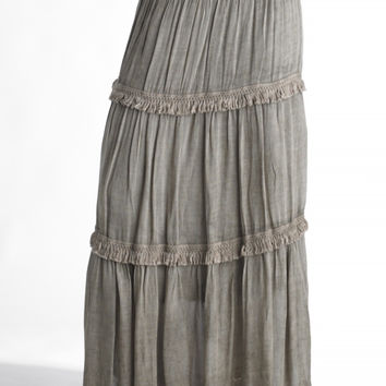 Peasant Ribbed Skirt