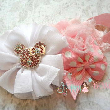 Baby Pink Mouse Headband / Pink Minnie Mouse Headband
