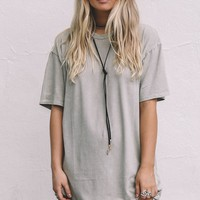 Reach Out Smoke Green T-Shirt Dress