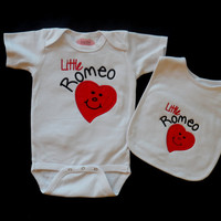 Valentine's Day Onesuit  Embroidered with Little Romo by LilMamas