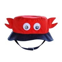 Jumping Beans Lobster Twill Bucket Hat - Baby Boy, Size: 6-18MONTHS (Navy/Red)