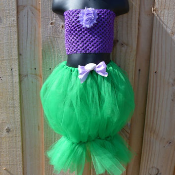 3pc The Little Mermaid Inspited tutu dress outfit/costume