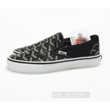Indie Designs Wanton Vans x Goyard Leather Slip-on