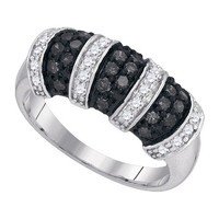 Diamond Fashion Ring in Sterling Silver 0.75 ctw