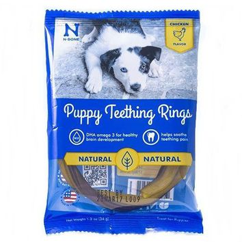 N-Bone Puppy Dog Chicken Teething Rings 1ct